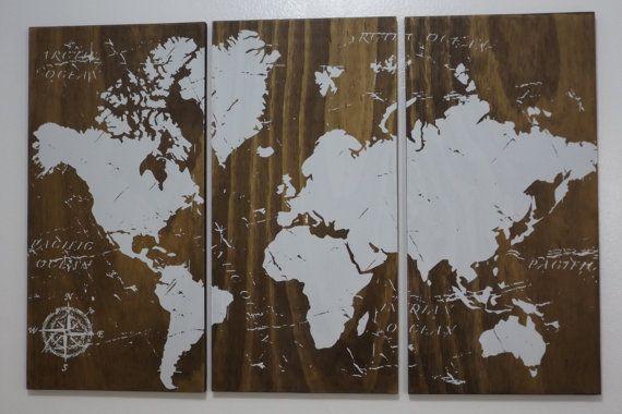 Welt Karte Push Pin Reisen Karte • Hochzeit Geschenk • Geschenk • Graduierung Geburtstagsgeschenk für ihn / ihr • Hochzeit Gästebuch Guest Book •