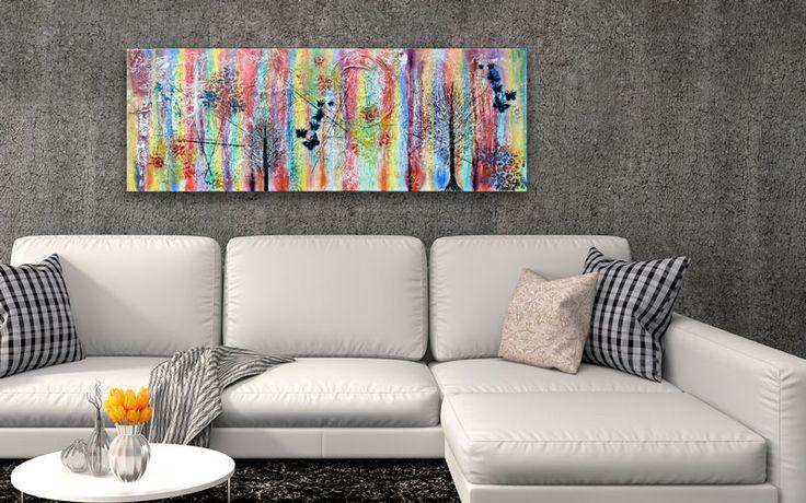 HOME DECOR WITH PAINTINGS !  Rainbow III  My website: https://artbylonfeldt.dk/  #art #arts #paintings #painting #fineart #artbylonfeldt