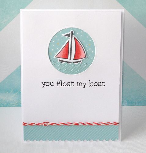 Lawn Fawn - Float My Boat, Hello Sunshine 6x6 paper, Stitched Scalloped Border die, Peppermint Lawn Trimmings | Flickr - Photo Sharing!