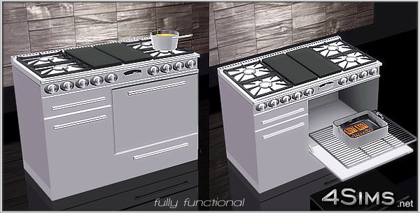"""iwantthempretty: """" http://4sims.net/dual-fuel-gas-range-professional-stove-line/ """""""
