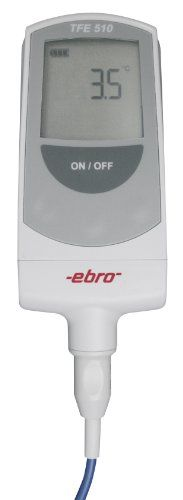 Ebro TFE 510-1 ABS Type T Thermometer without Probe, -50 to +300 Degrees C Measuring Range, 0.1 Degrees C Resolution, +/-0.5 Degrees C Accuracy High accuracy. Very fast. According to EN 13485. Robust and impact-resistant. Battery charge indicator.  #Ebro #BISS