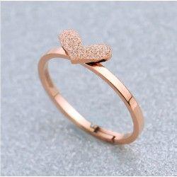 fashion 18k rose golden titanium heartshaped with womenu0027s open ring