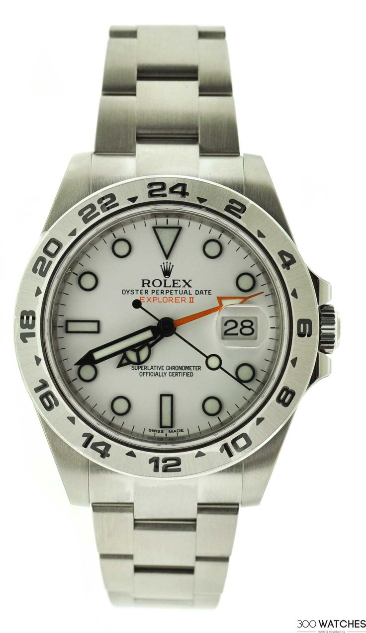 Men's Rolex Explorer II 216570 White Dial Stainless Steel Automatic Date Watch