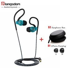 Earphone Langsdom Sp80A Sports Earphones Running Waterproof Sweatproof with mic in-ear earhook Music Headset Mobile Stereo Bass(China (Mainland))