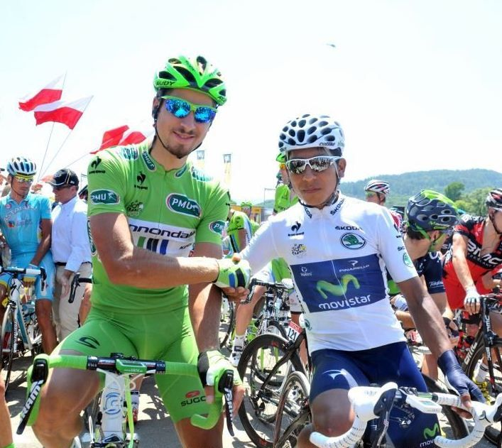 Peter Sagan and Nairo Quintana