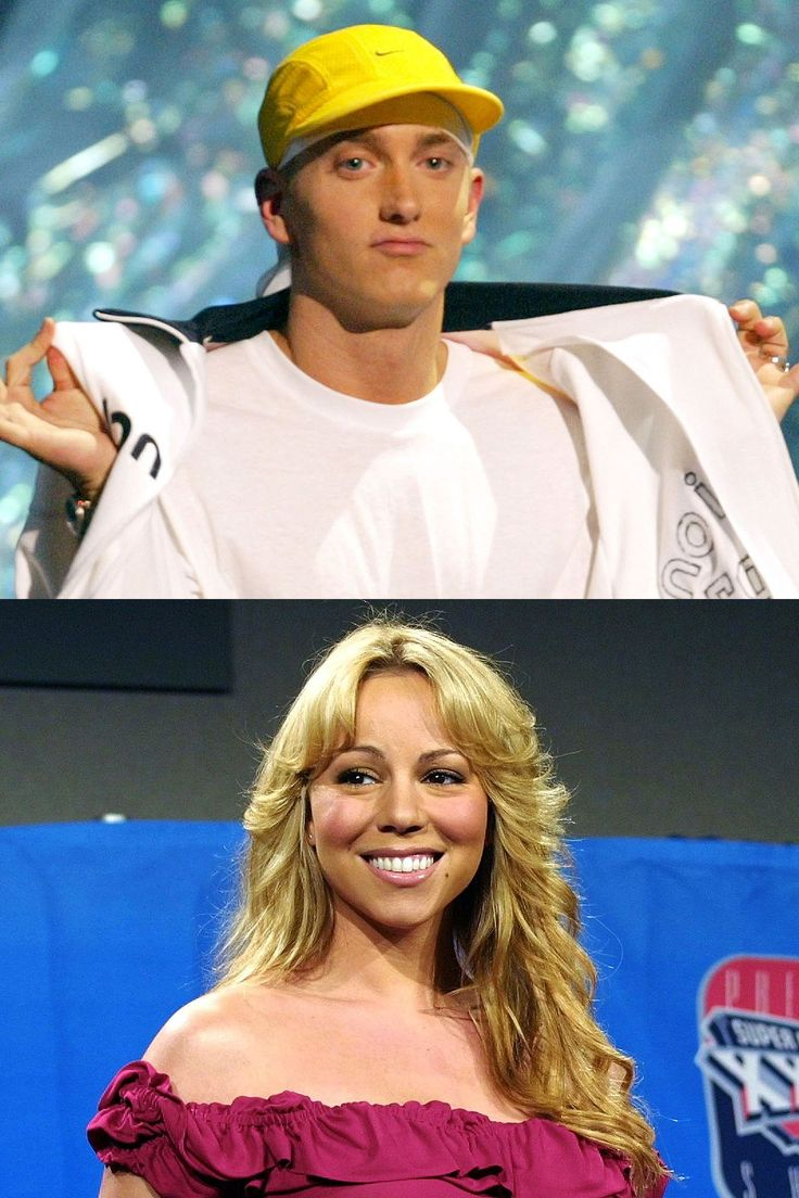 2002: Eminem vs. Mariah Carey - HarpersBAZAAR.com