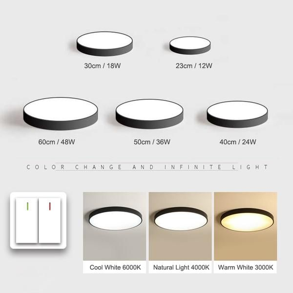 Nordic Led Ceiling Lights Ultra Thin Modern Ceiling Lighting Led