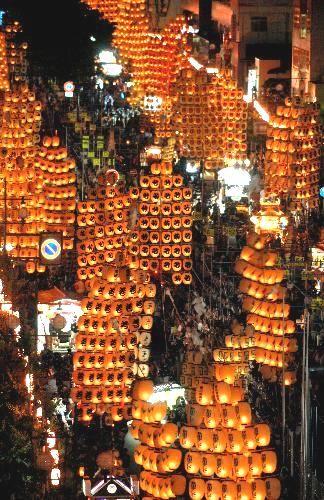 竿燈まつり、秋田/Akita Kanto Festival, Japan