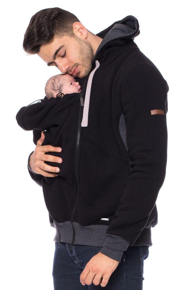 Mei Tai für Papa: Sweat-Tragejacke für Männer, Baby Tragetuch / Mei Tai for daddy: sweatshirt for men, baby sliing made by Milchshake-by-AgnesH via DaWanda.com
