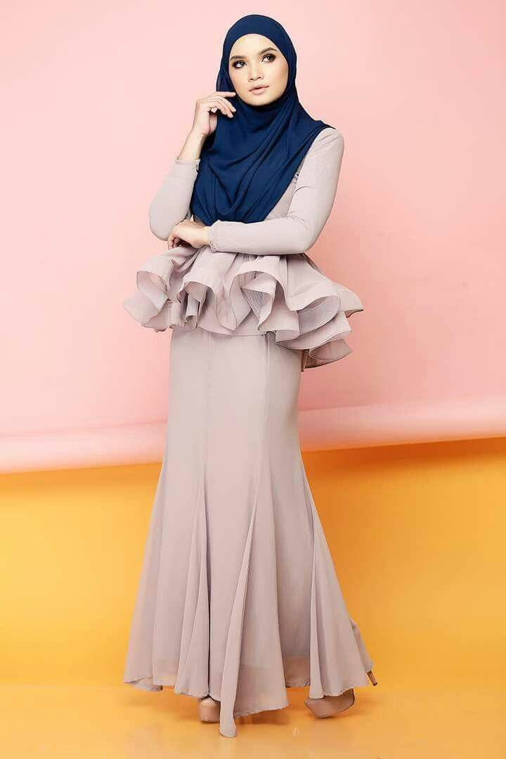 Mermaid peplum by cik puan gojes baju kurung pinterest baju kurung peplum and mermaids Fashion style hijab terkini