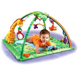rainforest gymFisher Pric Rainforests, Trav'Lin Lights, Rainforests Melody, Fisher Price, Deluxe Gym, Fisherprice, Lights Deluxe, Baby, Plays Mats