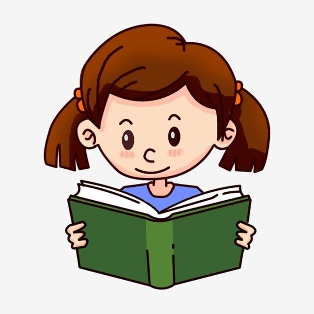 Little Girl Reading Little Girl Reading A Book Read Reading Png And Psd Girl Reading Girl Cartoon Cartoon