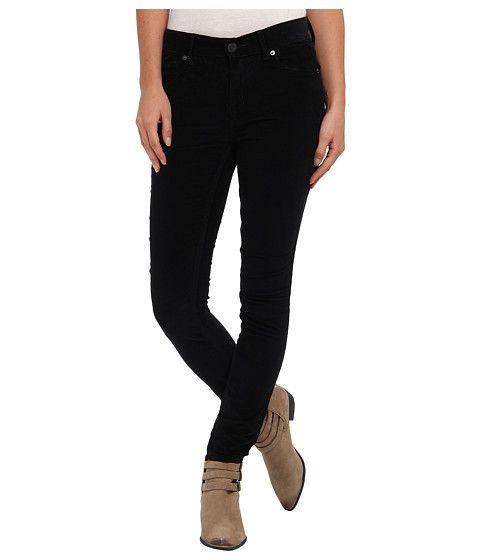 Free People Hi-Rise Skinny Cord / Corduroy Jeans in Black, Size 31 ...
