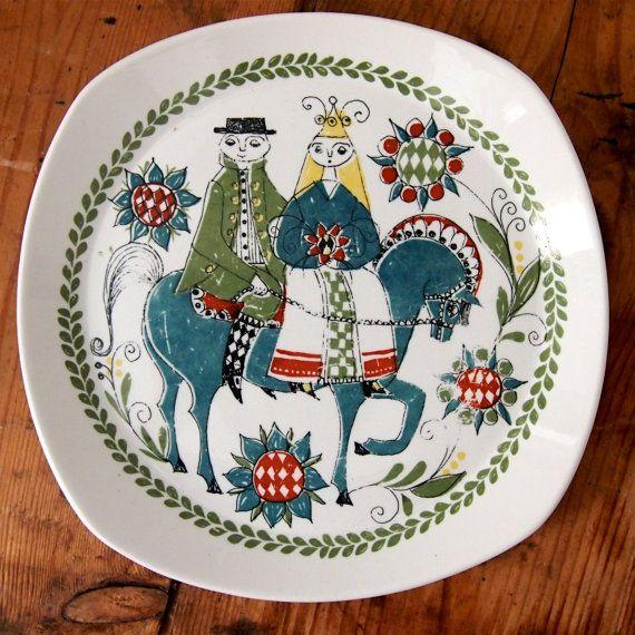 FIGGJO FLINT Norway SAGA Norsk Design Wedding Plate, $20