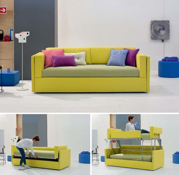 Oltre 25 fantastiche idee su divano letto a castello su for Divano letto a scomparsa ikea