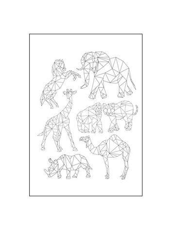 Zie je graag dieren maar hou je ze liever abstract, dan is deze poster iets voor jou!