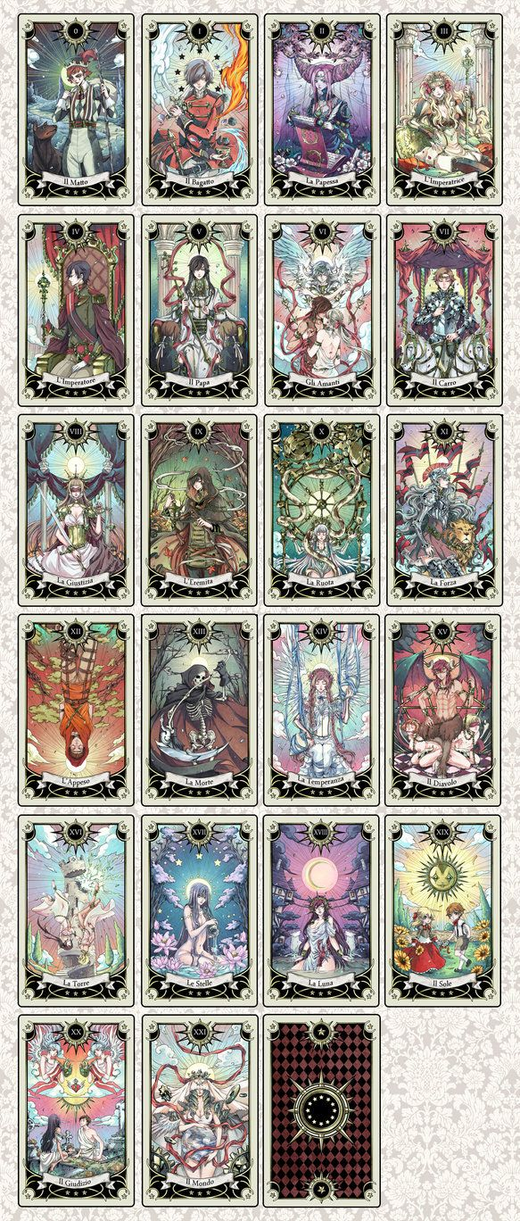 Card Deck With Guidebook By: Tarot Deck Progress By Rann-poisoncage Get A Free