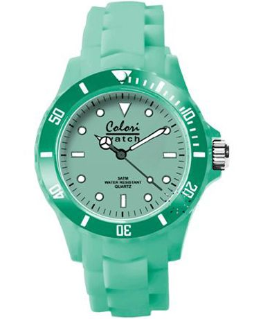 COLORI Classic Green Silicone Strap Τιμή: 39€ http://www.oroloi.gr/product_info.php?products_id=34921