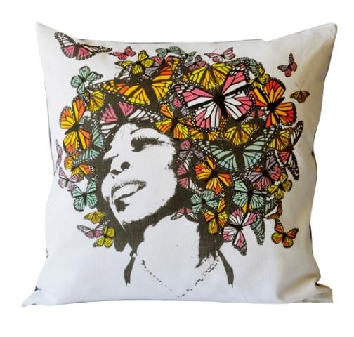 Flutterby cushion.