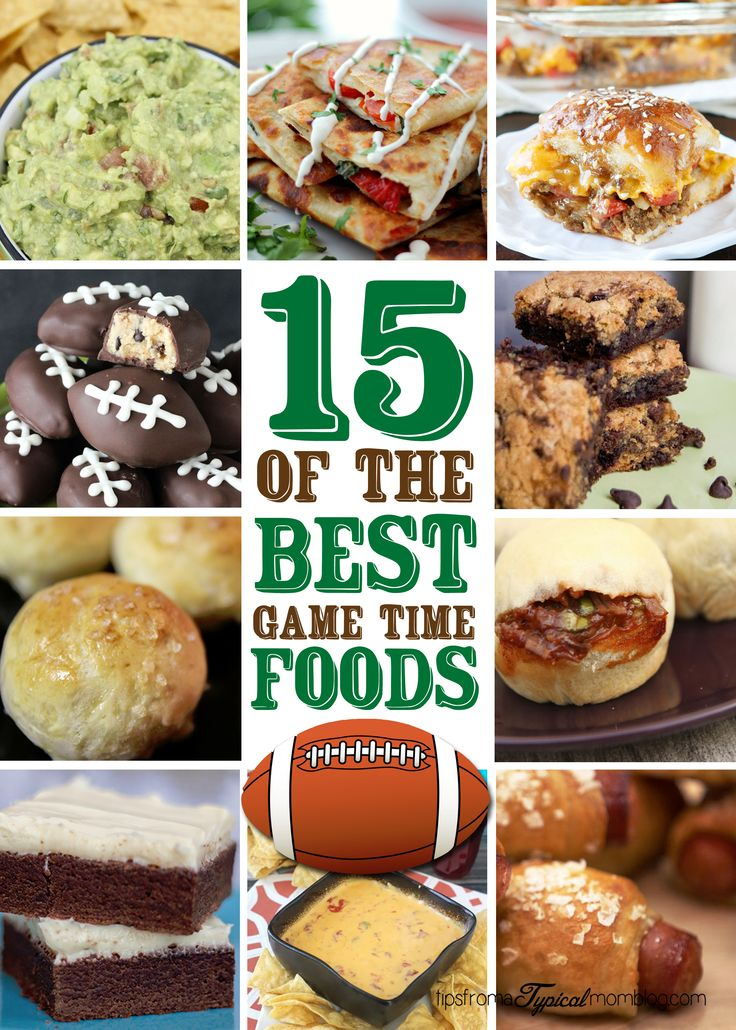 15 of the Best Game Time Foods