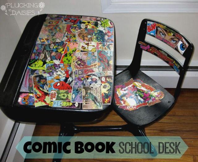 1000 ideas about old school desks on pinterest school for Diy desk stuff