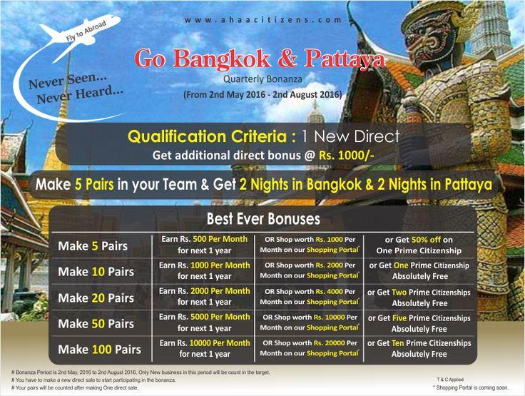 Go Bangkok & Pattaya For more info:  http://ahaacitizens.com