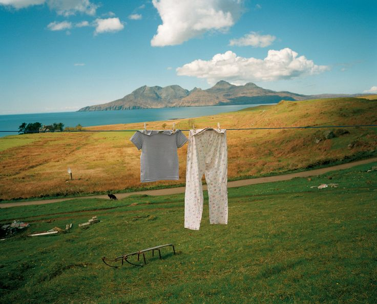 Martin Parr. Inner Hebrides, Scotland. Isle of Eigg. Isle of Rhum in the background. 1998