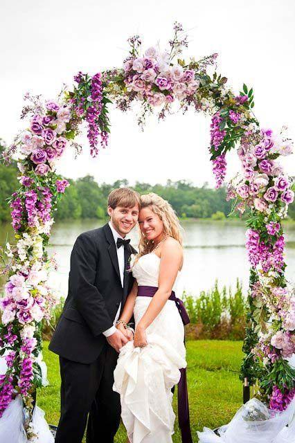 Vintage Purple Rose Wedding Arch                                                                                                                                                                                 More