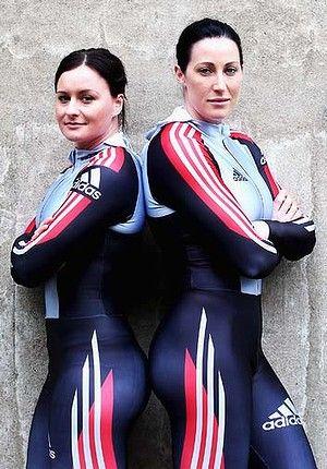 The Age  Sled girls: Astrid Radjenovic and Jana Pittman.