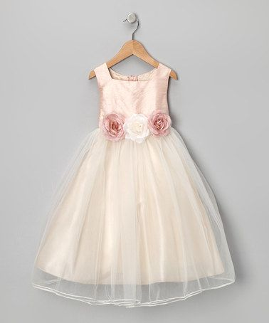 Take a look at this Dusty Rose Silk Dress - Toddler & Girls by Kids Dream on #zulily today!