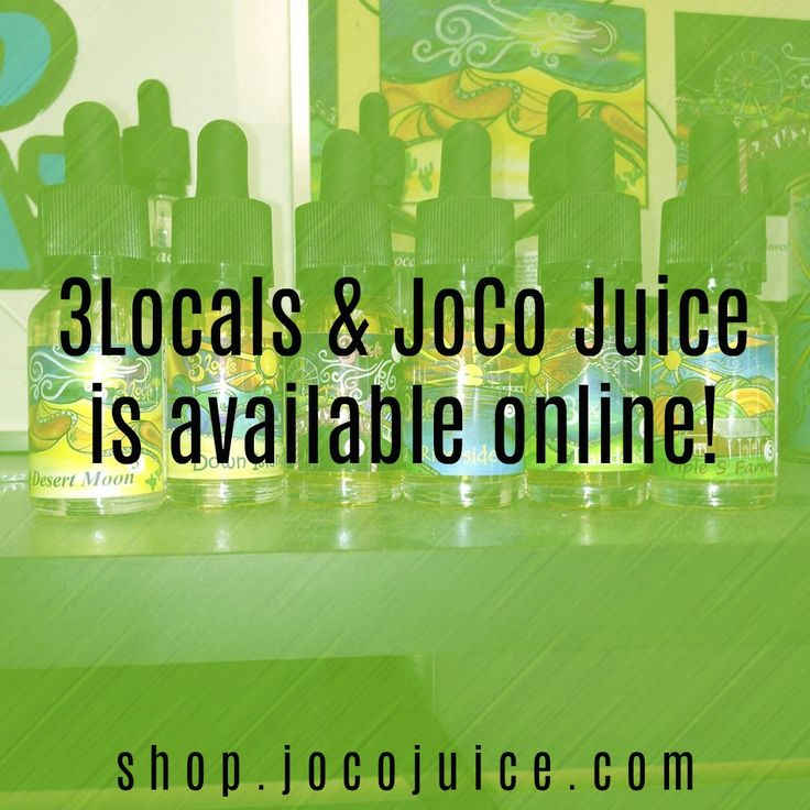 Too worn out from the work week to stop by the vape shop and stock up on eliquid? JoCo Juice & 3Locals premium eliquid is available online!