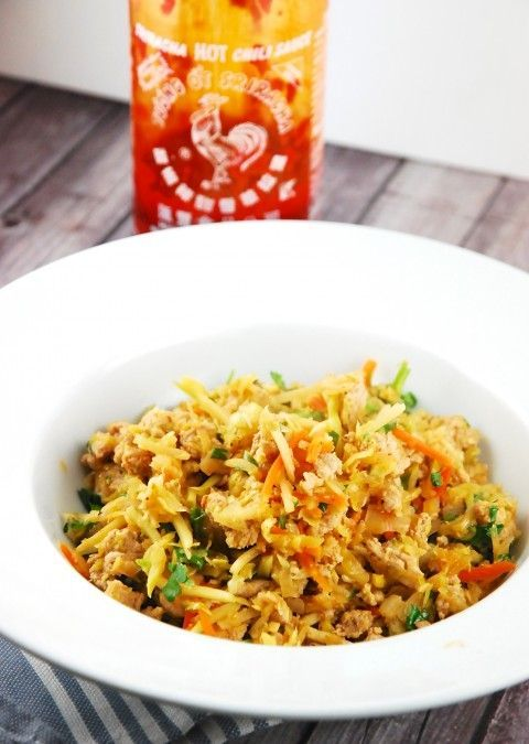 Checkout this addictively delicious Crack Slaw Recipe at LaaLoosh.com. A meat and veggie stir fry that is simple and tasty. It's just 2 Smart Points!