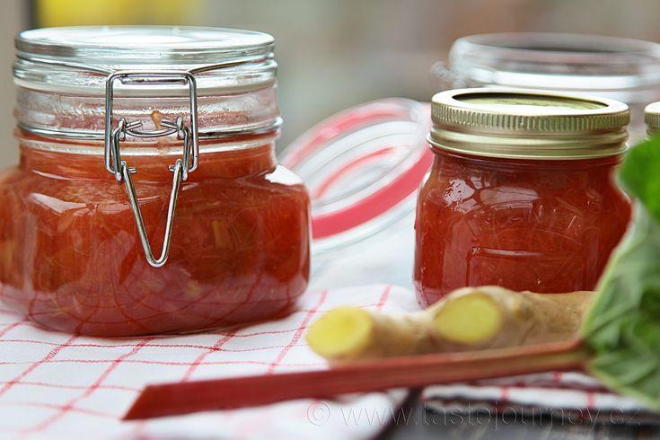Rebarborový džem - unikátní chuť rebarbory a zázvoru