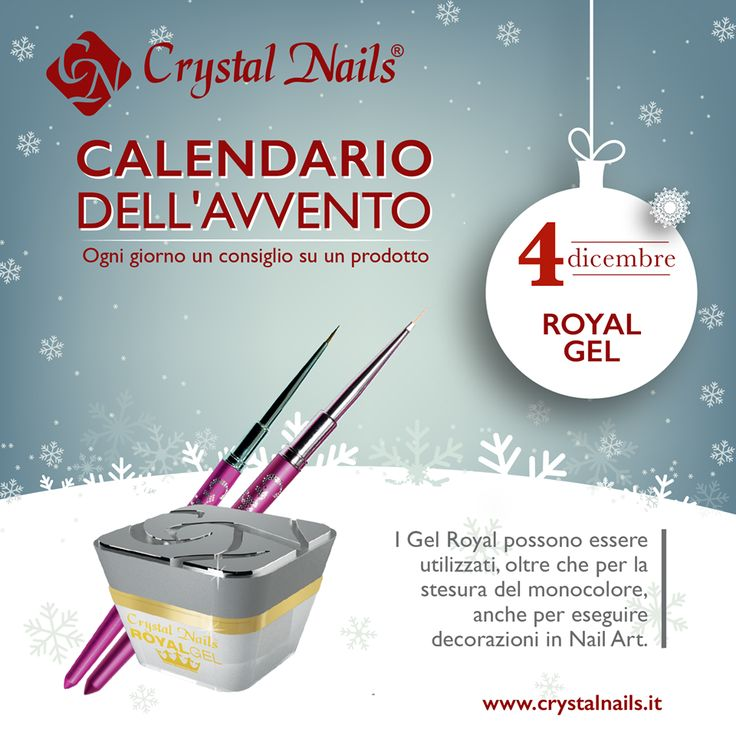 Calendario dell'avvento Crystal Nails - 4dicembre - #royal #gelroyal #crystalnails #christmas