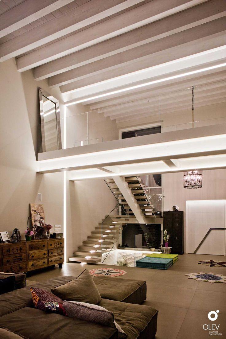 Pin su Illuminare un soffitto con travi a vista inclinate