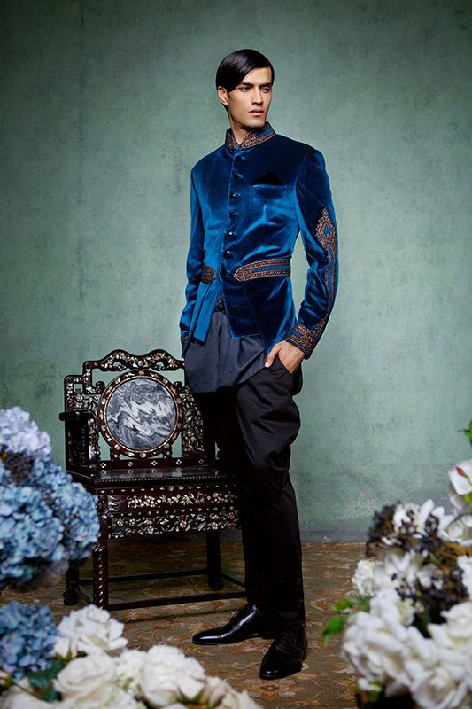 Indian Velvet Men's #Jacket by http://www.TarunTahiliani.com/couture-bridal-services#prettyPhoto