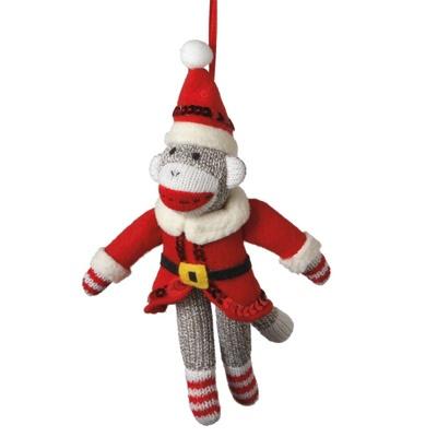 New Santa Sock Monkey Christmas Ornament