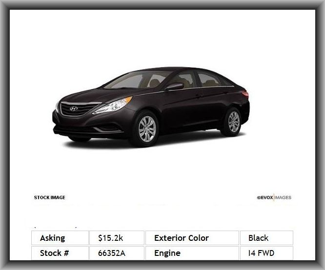 2011 hyundai sonata gls standard equipment