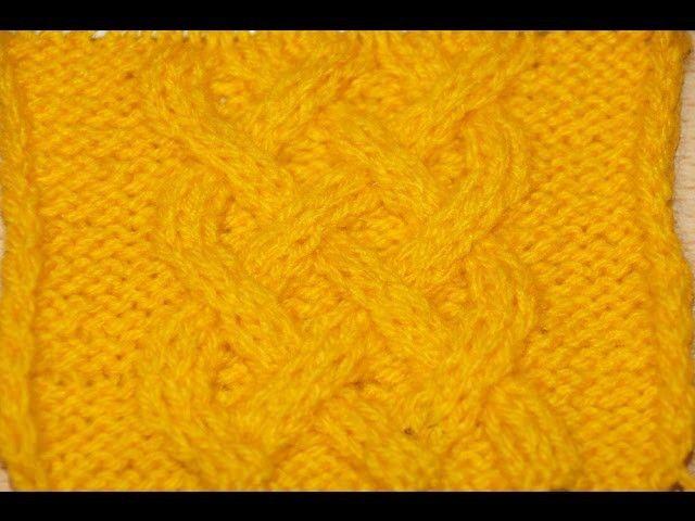 Вязание спицами узора Кельтская коса - Схема 12 . Knitting pattern Celtic braid - 12 Scheme