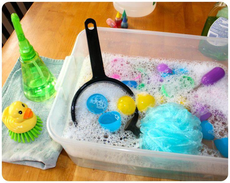 Easter Egg Washing Set Up