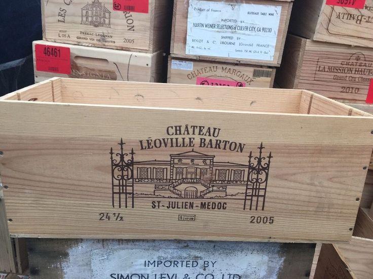 Wine Box Case Crate 24 375ml Bottle French Chateau Leoville Barton Bordeaux
