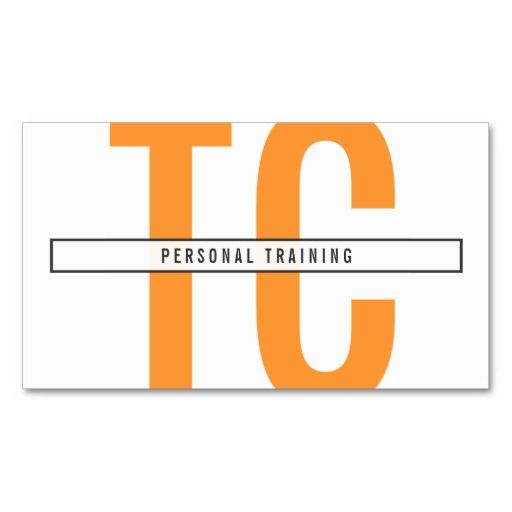29 best business cards for personal trainers images on pinterest big initials monogram in orange and white business card trainer fitnessbusiness card templatesbusiness accmission Gallery