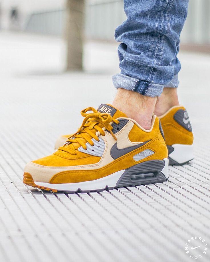"Nike Air Max 90 Premium ""Desert Ochre"" | Sneakers men fashion ..."