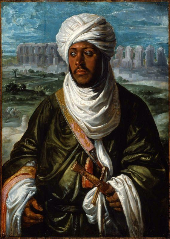 ~ Moorish King ~ Painting showing the ruler of the Hafsid Dynasty King Mulay Ahmad. By Daniel Marques (cool-art) Taken on: April 3, 2010