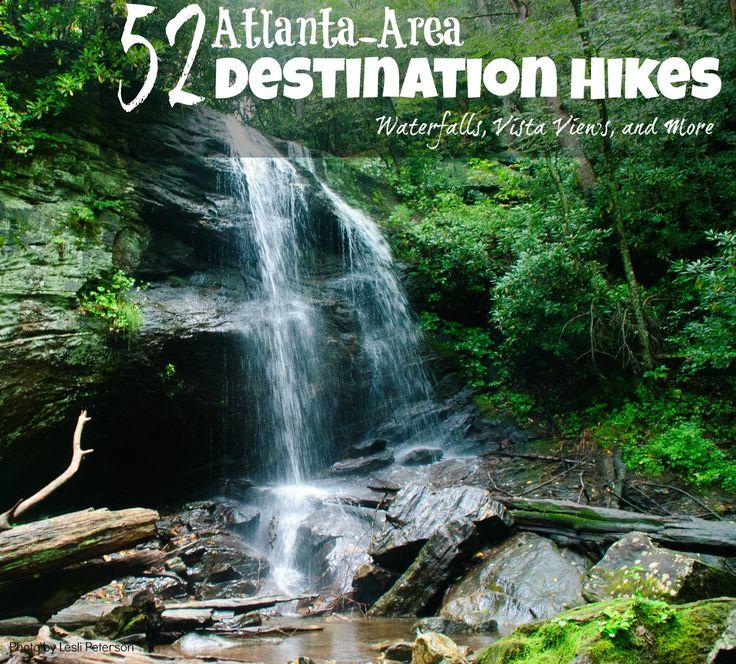 Destination hikes from Atlanta waterfalls, views, scenic hikes from 365 Atlanta Family