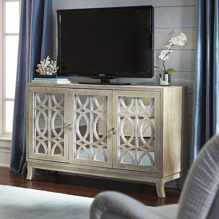 Best 20 tv stand decor ideas on pinterest tv decor Mirrored tv cabinet living room furniture