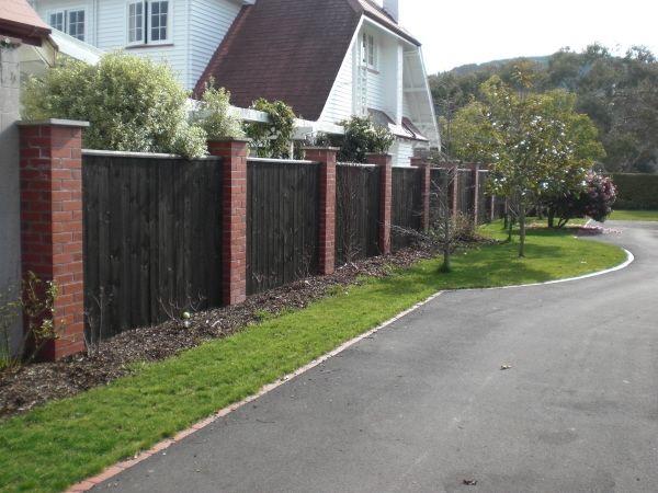 how to make a brick fence