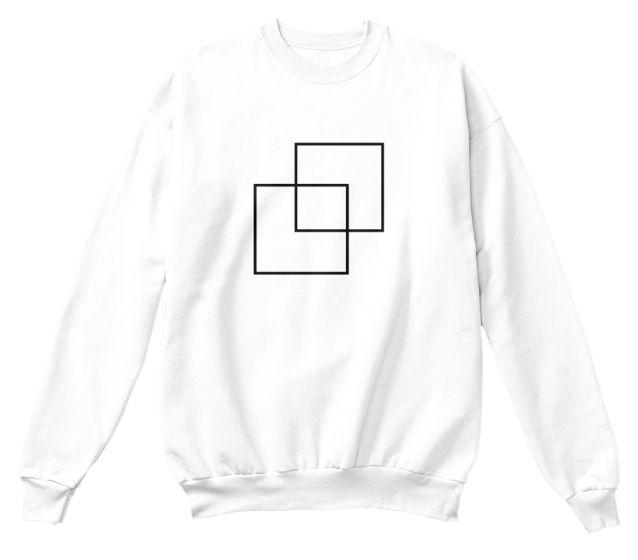 Gen Z Squares unisex tops design, multiple colors available.