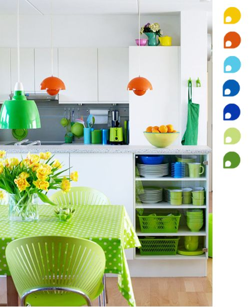 Color Scheme of The Week: Oranges, Blues and Greens