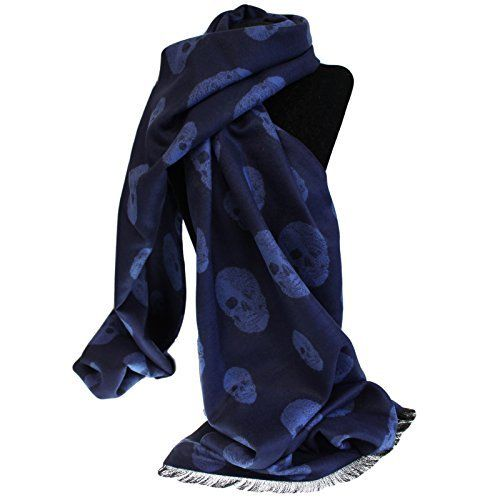 Unisex Rich Kid Skull Scarf - Navy and Blue by Ancient Wisdom, http://www.amazon.co.uk/dp/B0199N467Q/ref=cm_sw_r_pi_dp_x_N1EqzbPXFR0YS